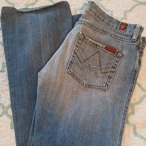 7 for All Mankind Distressed A-pocket Jeans